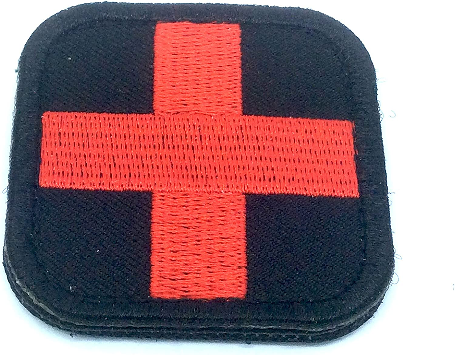 Medic croce rossa nero ricamato Airsoft Paintball patch