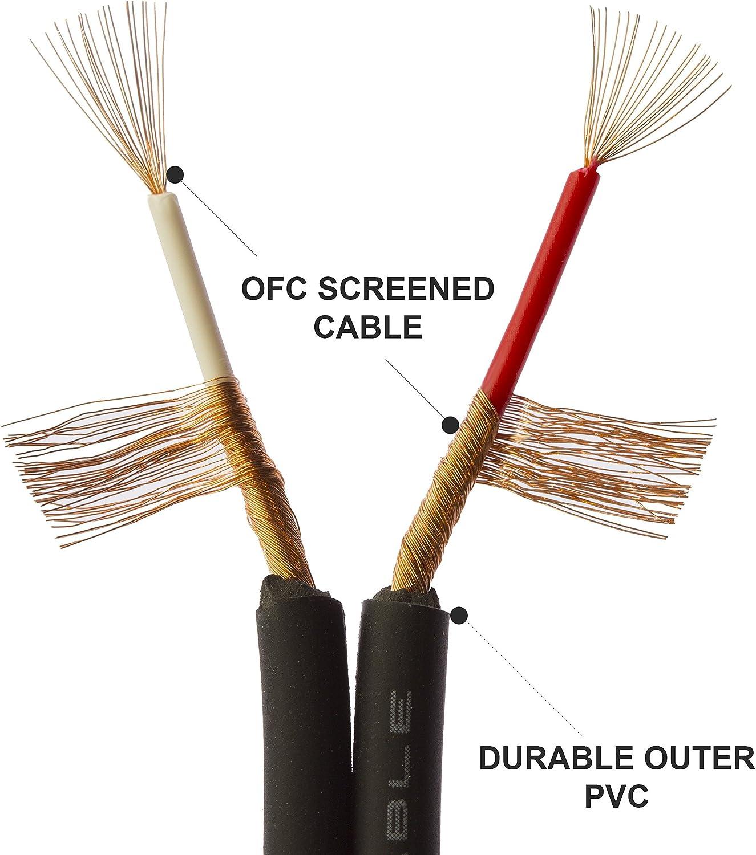 1STEC extra lungo 3.5/mm jack a 2/RCA maschio cavo audio stereo con connettori per collegare l uscita cuffie audio su dispositivi a un amplificatore HiFi AUX ingresso o simili 40 m 3.5mm or 1//8 Jack