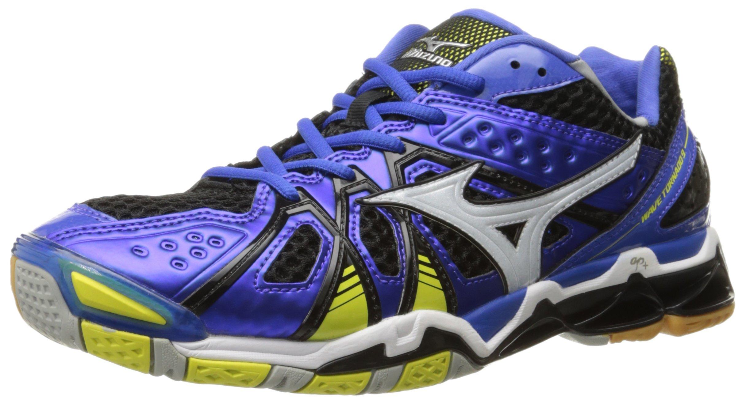 Mizuno Men's Wave Tornado 9 DB-BLT Volleyball Shoe, Dazzling Blue/Bolt, 7 D US