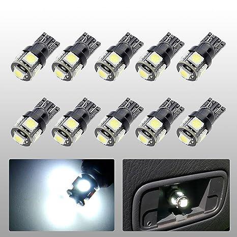 Amazon.com: evitek 10 x T10 Wedge Tipo de Auto Bombillas LED ...