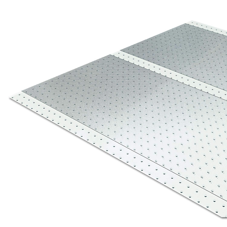 ES Robbins Vinyl Ribbed Carpet Runner, Clear