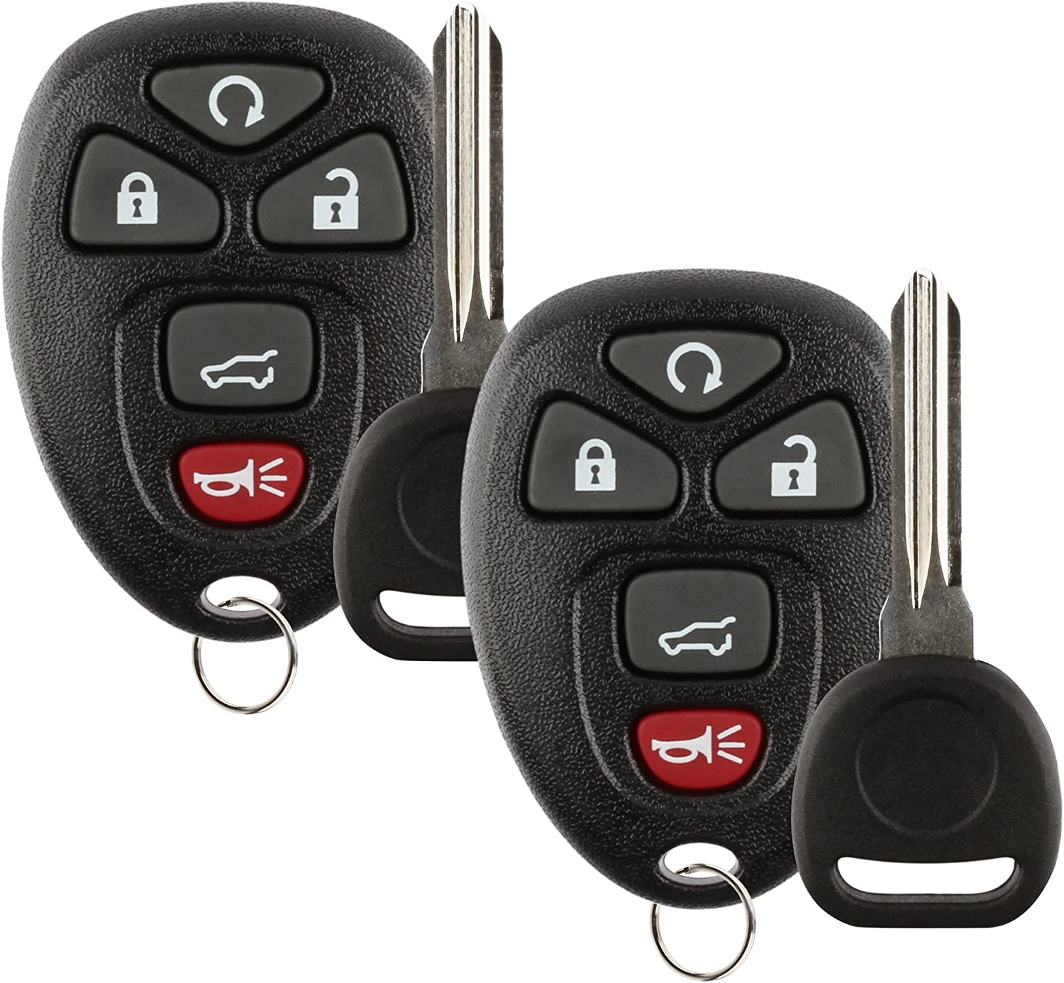 ID 46 25839476 2 Pack Discount Keyless Replacement Key Fob Car Remote and Uncut Transponder Key Compatible with 15913415
