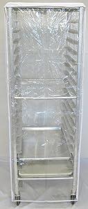 "World Manufacturing RC-COV-REG Vinyl PVC Heavy-Duty Clear Vu Rack Cover for Full-Size Sheet Pan Rack, 12 mil Thick, 23"" Length x 28"" Width x 62"" Height"
