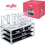 Acrylic Makeup Organizer Cosmetic Jewerly Display Box 2 Piece Set by AcryliCase®