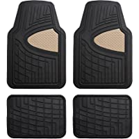 FH Group Premium Tall Channel Rubber Floor Mats (4 Piece Set)