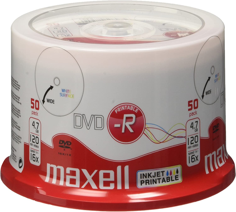50 Maxell Dvd R 4 7 Gb 16x Print Cake Computer Zubehör