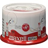 Maxell - 50 x DVD-R - 4.7 GB ( 120min ) 16x - white - printable surface - spindle - storage media