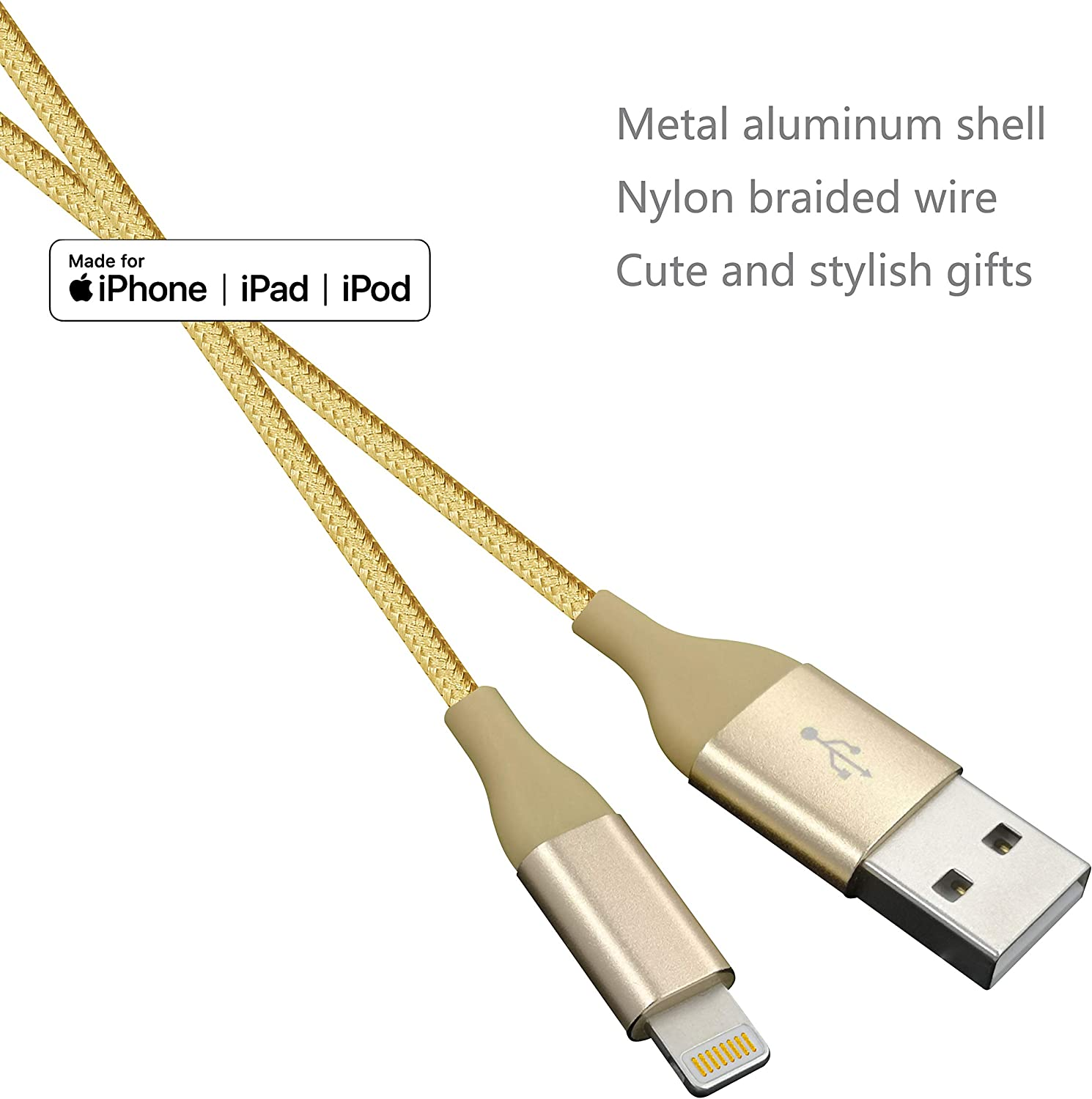 Gray Rose Gold Red IDiSON 4Pack 4Color 4ft Apple MFi Certified iPhone Lightning Cable Braided Nylon Fast Charger Cable Compatible iPhone 11 Pro X XR XS MAX 8 Plus 7 6s 5s 5c Air iPad Mini iPod