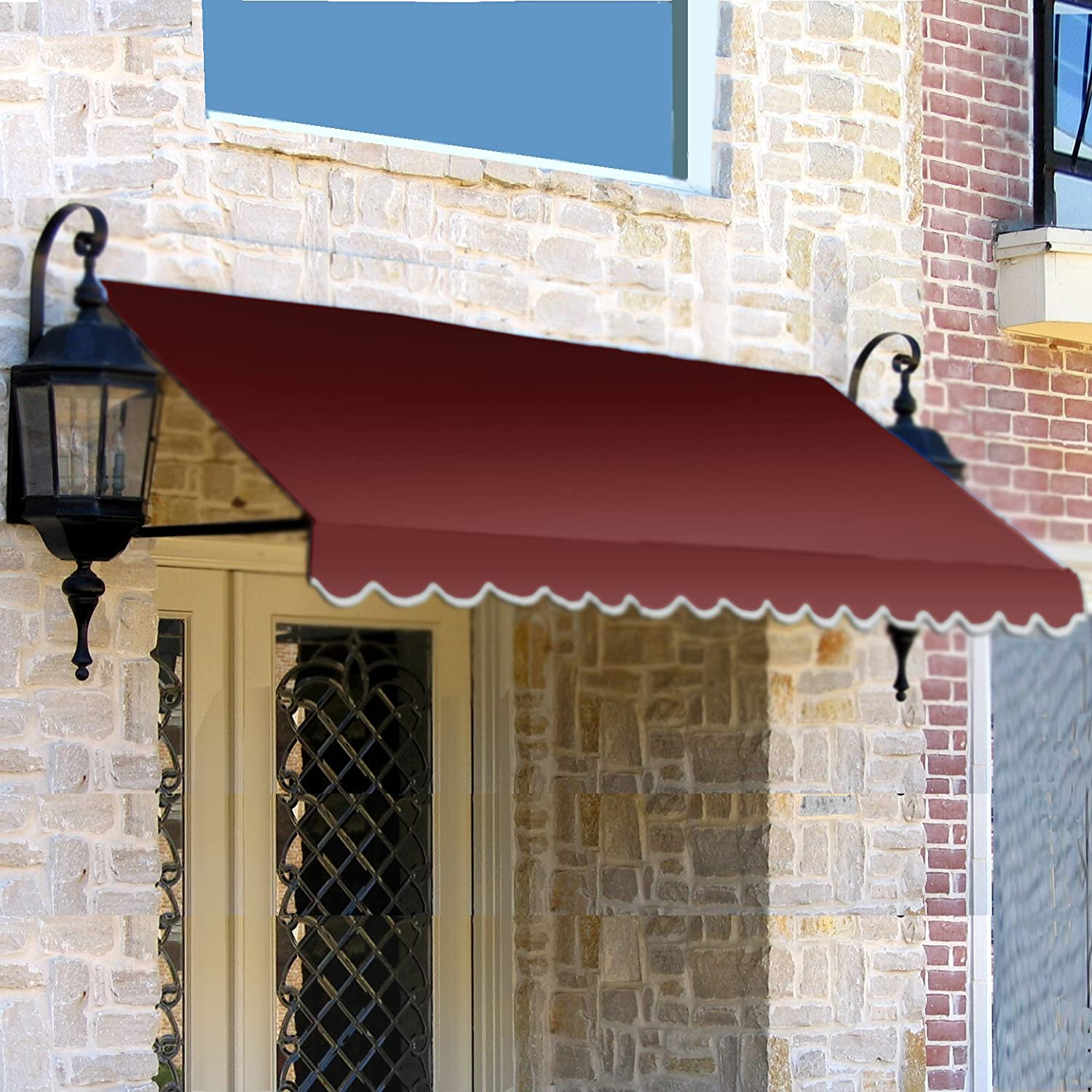 Amazon.com : Awntech 3 Feet Dallas Retro Awning For Low Eaves, 18 By  36 Inch, Black : Garden U0026 Outdoor