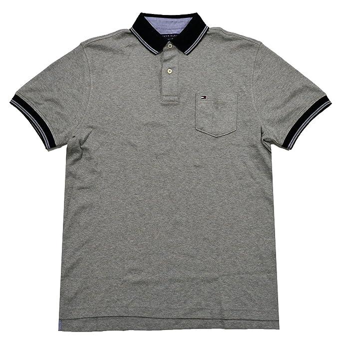 c01318ebb Tommy Hilfiger Mens Classic Fit Interlock Pocket Polo Shirt (Small ...