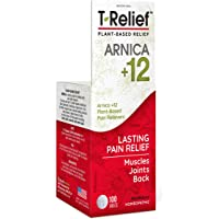 MediNatura T-Relief Natural Pain Relief With Arnica + 12 Plant-Based Pain Relievers - 100 Tablets