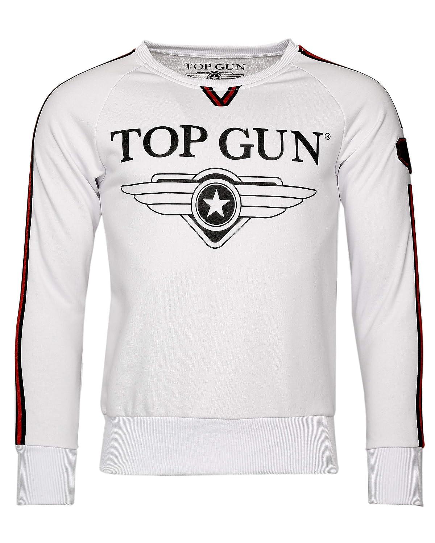 blanc XXL Top Gun - Sweat-Shirt à Capuche - Homme