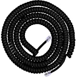 Power Gear Coiled Telephone Cord, 12 Feet, Phone Cord Works with All Corded Landline Phones, for Use in Home or Office…