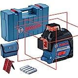 Bosch Professional linjelaser GLL 3-80 (röd laser, inomhus, arbetsområde: upp till 30 m, 4x AA-batterier, i…