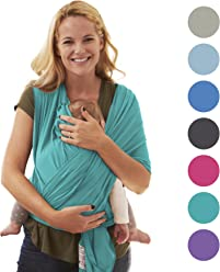 Babytragetuch für Neugeborene | Das perfekte Geschenk Sommer | Designed in Berlin & London | Tragetuch von BabyChamp (turquoise)