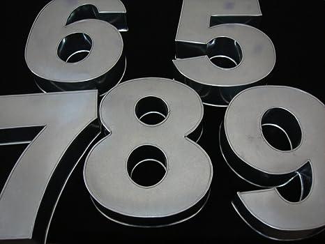 Teglia Metallica Per Torta A Forma Di Numero 5 Grande Profondità 7