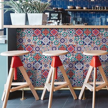 Tile Stickers Seavish Mediterranean Collection Anti mold Peel and