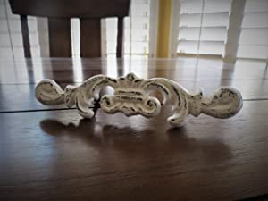 Farmhouse Shabby Chic Drawer Pull, Dresser Cabinet Handle, Antique White or Pick From 40+ Colors, Sold per Unit