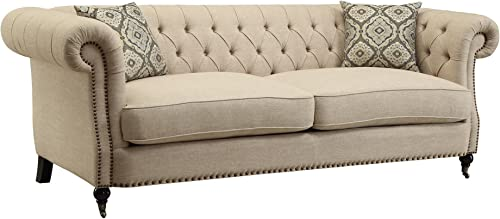 Coaster Home Furnishings Sofa in Oatmeal