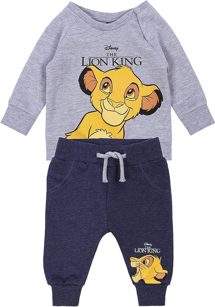 Chándal de bebé, Color Gris-Azul Marino, The Lion King 9-12 Meses: Amazon.es: Ropa y accesorios