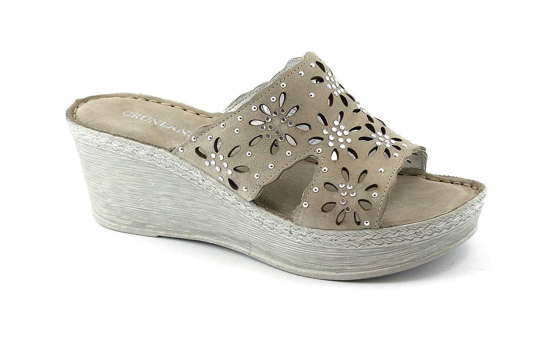 GRUNLAND para CI1338 Zapatillas de Cuña de Hormigón Mujer Brillo