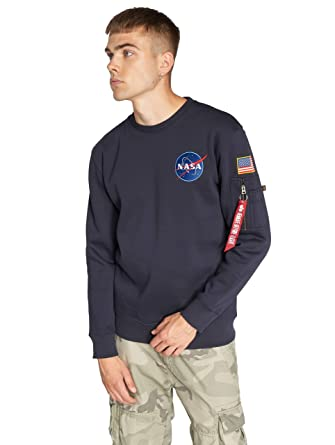 753fa5294 Alpha Industries Men Jumpers Space Shuttle: Amazon.co.uk: Clothing