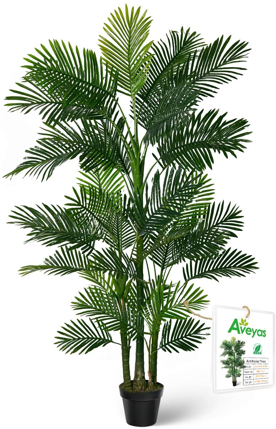 Lifelike Artificial Cycas Palm Phoenix palm Tree Fake Plastic Pot Office Decor