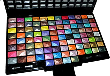 Elegant 100 Piece Glitter Eyeshadow Makeup kit in Black Palette by Emori (TM): Amazon.es: Belleza
