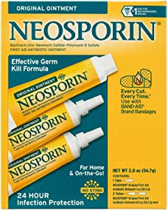 Neosporin Original Ointment First Aid Antibiotic Treatment 3 Pack Value Pack … (Value Pack)