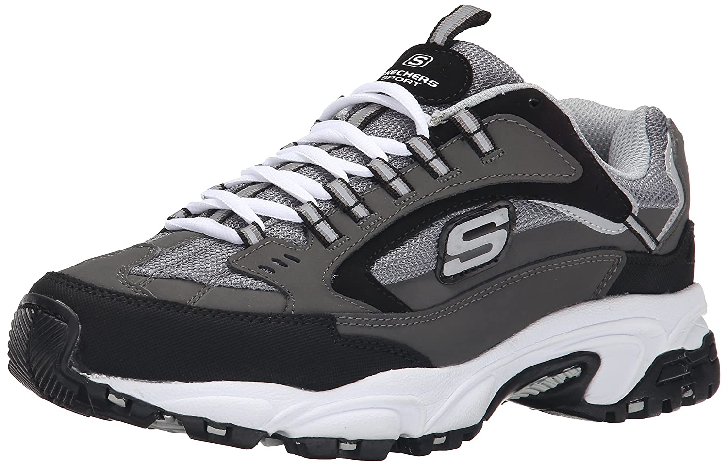 Skechers Sport Men's Stamina Nuovo Cutback Lace-Up US|Charcoal Sneaker B00VR533CE 8.5 D(M) US|Charcoal Lace-Up Cutback b92355