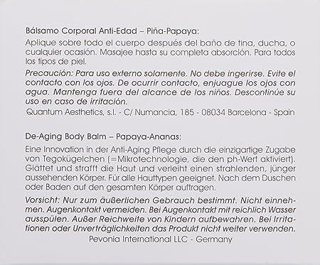 Amazon.com: pevonia de-aging Bálsamo Corporal, Papaya/Piña ...