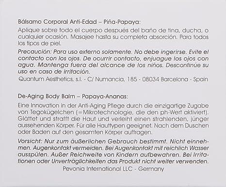 Amazon.com: Pevonia De-Aging Body Balm Papaya/Pineapple, 5 oz: Luxury Beauty