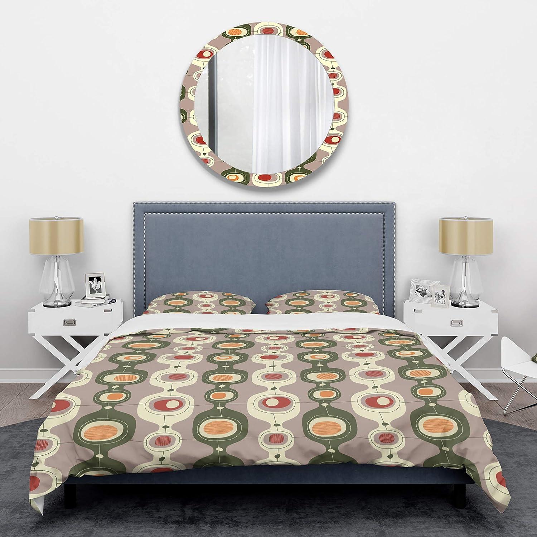DOUBLE DUVET SET Berry grey /& lime Scandinavian style abstract flower quilt set