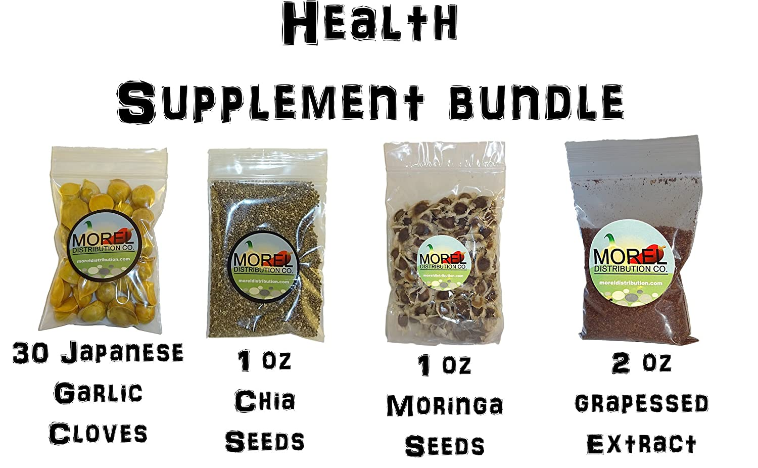 Amazon.com: Health Supplement Bundle! (Japanese Garlic+Chia+Moringa+GRAPESEED Extract): Health & Personal Care