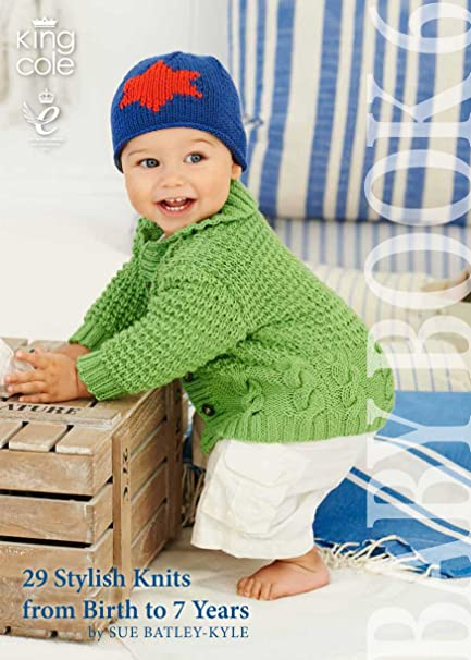 King Cole Baby Book Six Knitting Book Double Knitting Patterns Birth