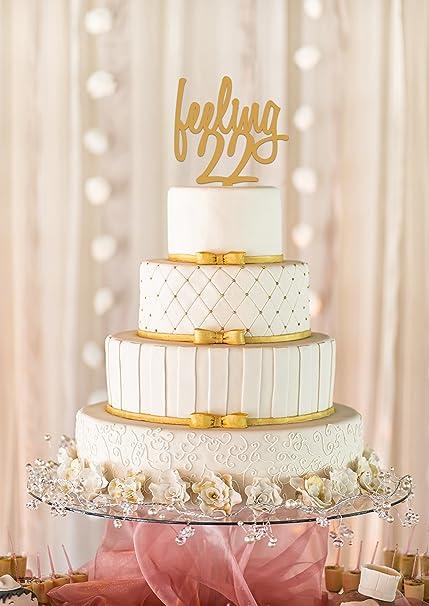 Amazon Feeling 22 Cake Topper 22nd Birthday Milestone Decor Adult 5