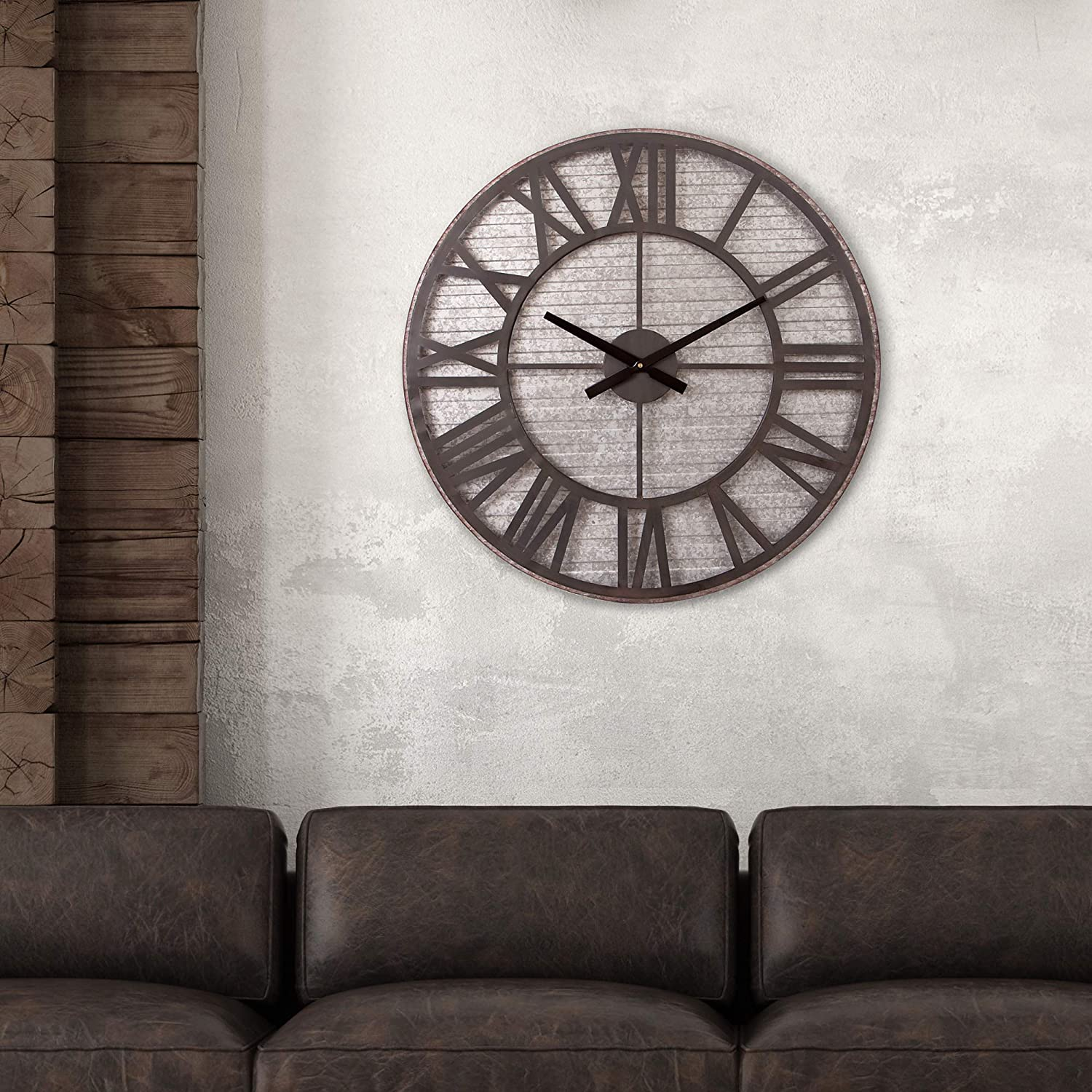 Rustic Galvanized Metal Cut Out Wall Clock