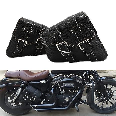 Amazon.com: 2 piezas de moto universal patrón de cocodrilo ...