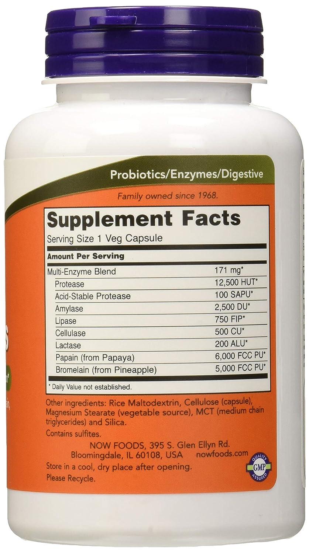Now Foods Plant Enzyme Standard - 120 Cápsulas