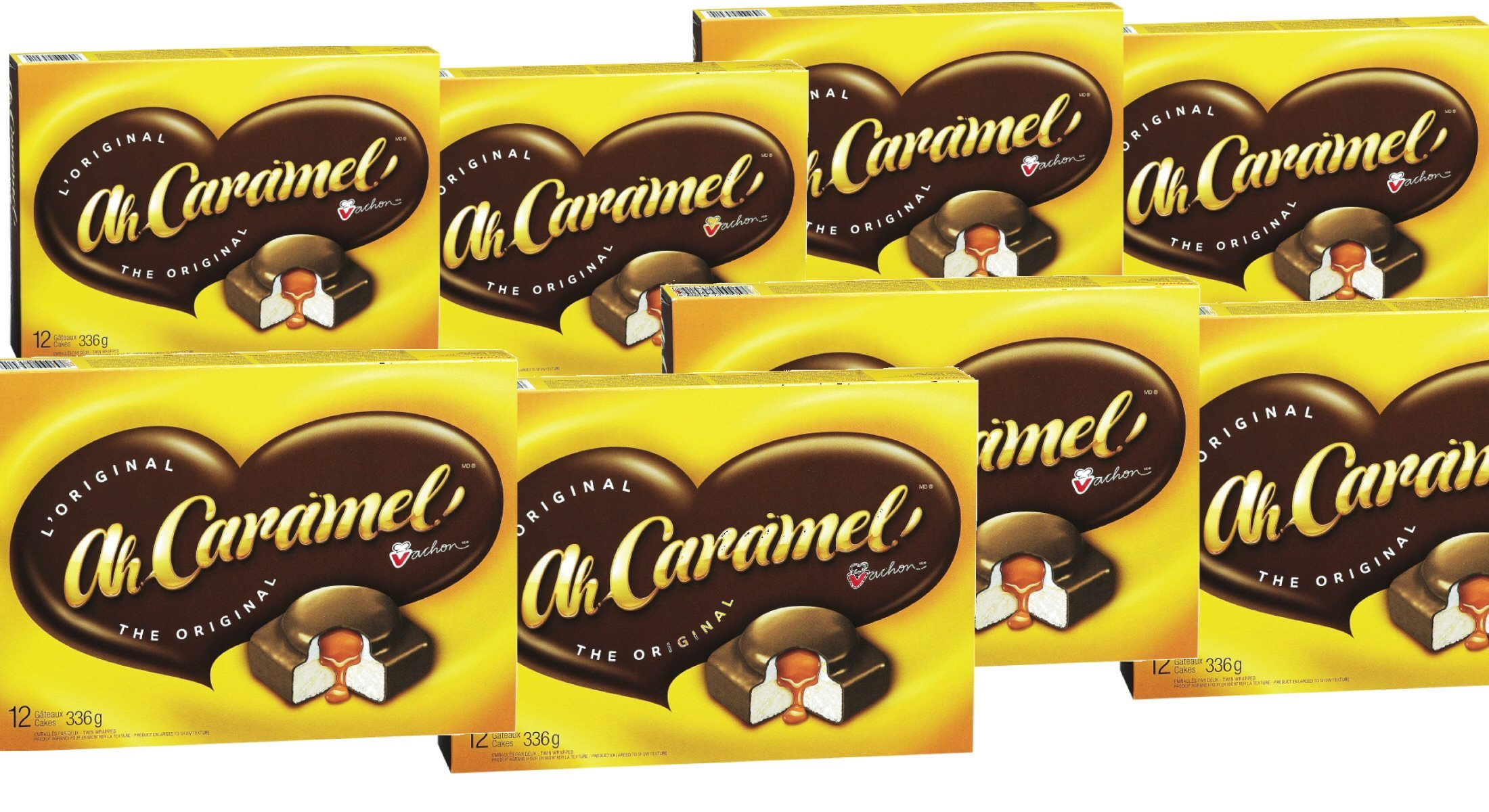 (8 Box) 12 Cakes Vachon the Original Ah Caramel Cakes, 4.49 ONLY shipping