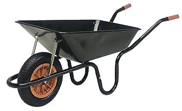 Parasene Heavy Duty Navvy Wheelbarrow Amazon Co Uk Garden Outdoors