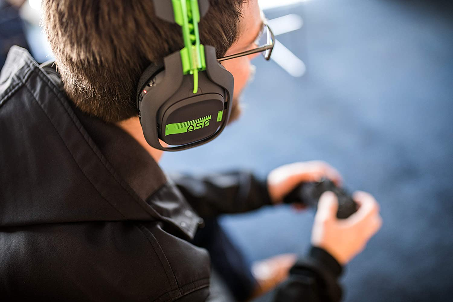 PC ASTRO Gaming A50 Wireless Headset Mac Compatible with Xbox One Grey//Green Base Station with Dolby 7.1 Surround Sound
