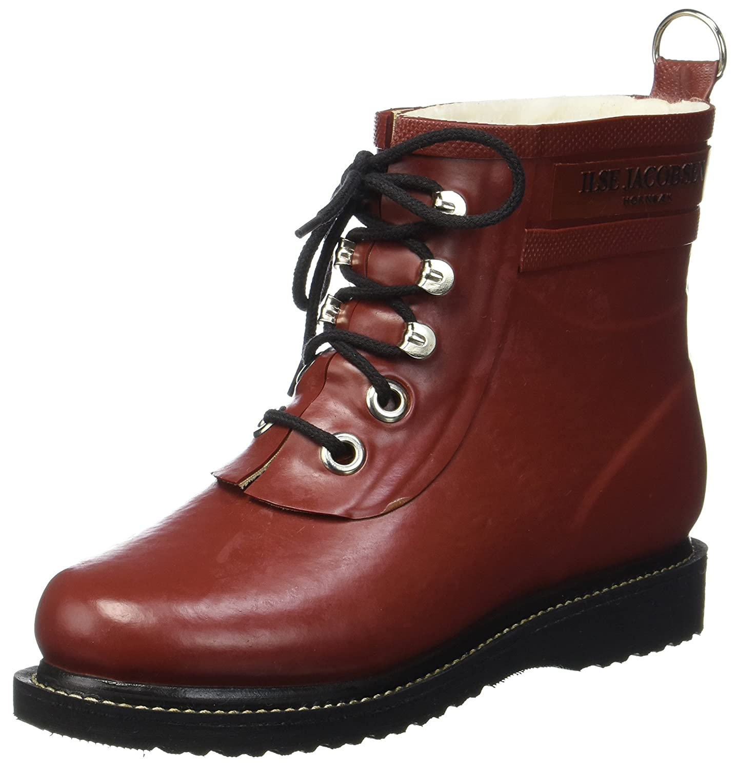 ILSE JACOBSEN Womens Rub 2 Rubber Boots B0725P9ZYX 40 EU (10-10.5 B(M) US Women)|Red (Stein Red)