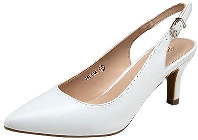 3e5ecfd2941 VOSTEY Women Low Heel Shoes Slingback Pumps (7