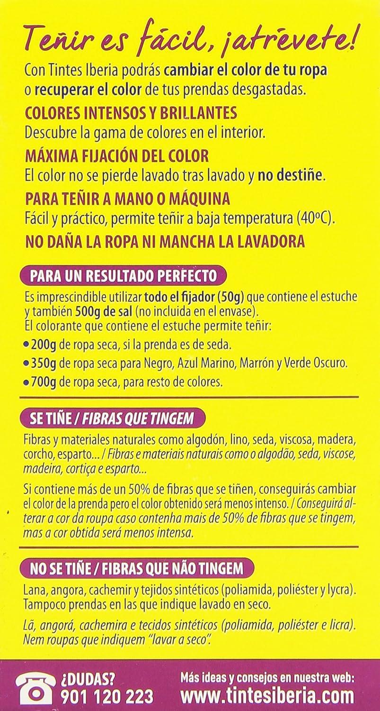 Iberia Tinte Azul Eléctrico para Ropa - 70 gr: Amazon.es ...