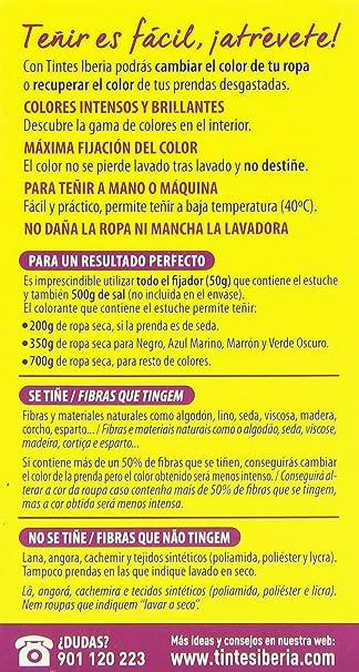 Iberia Tinte Azul Eléctrico para Ropa - 70 gr: Amazon.es: Salud ...