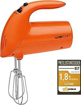 Clatronic HM 3014 Batidora de Varilla Especial repostería, 5 velocidades, 250 W, Naranja: Clatronic: Amazon.es: Hogar