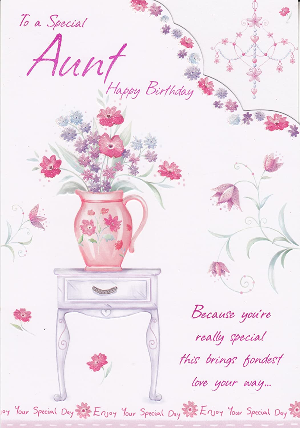 To A Special Aunt Happy Birthday Birthday Greeting Card Amazon