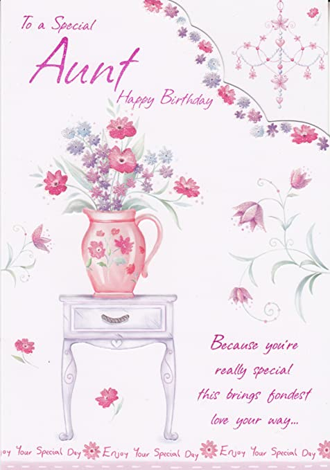 To A Special Aunt Happy Birthday Birthday Greeting Card Amazon Co
