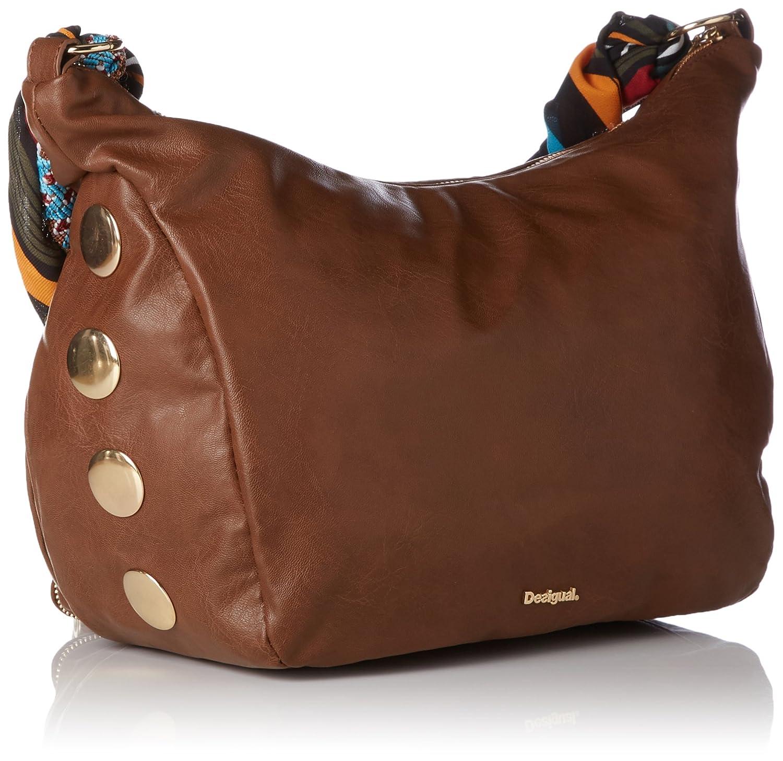 7e8503f18139d Desigual Bols_somalia Janis, 6091, U, femme, Marron (Leather Brown),  12x24.5x22 cm (b x h t): Amazon.fr: Chaussures et Sacs